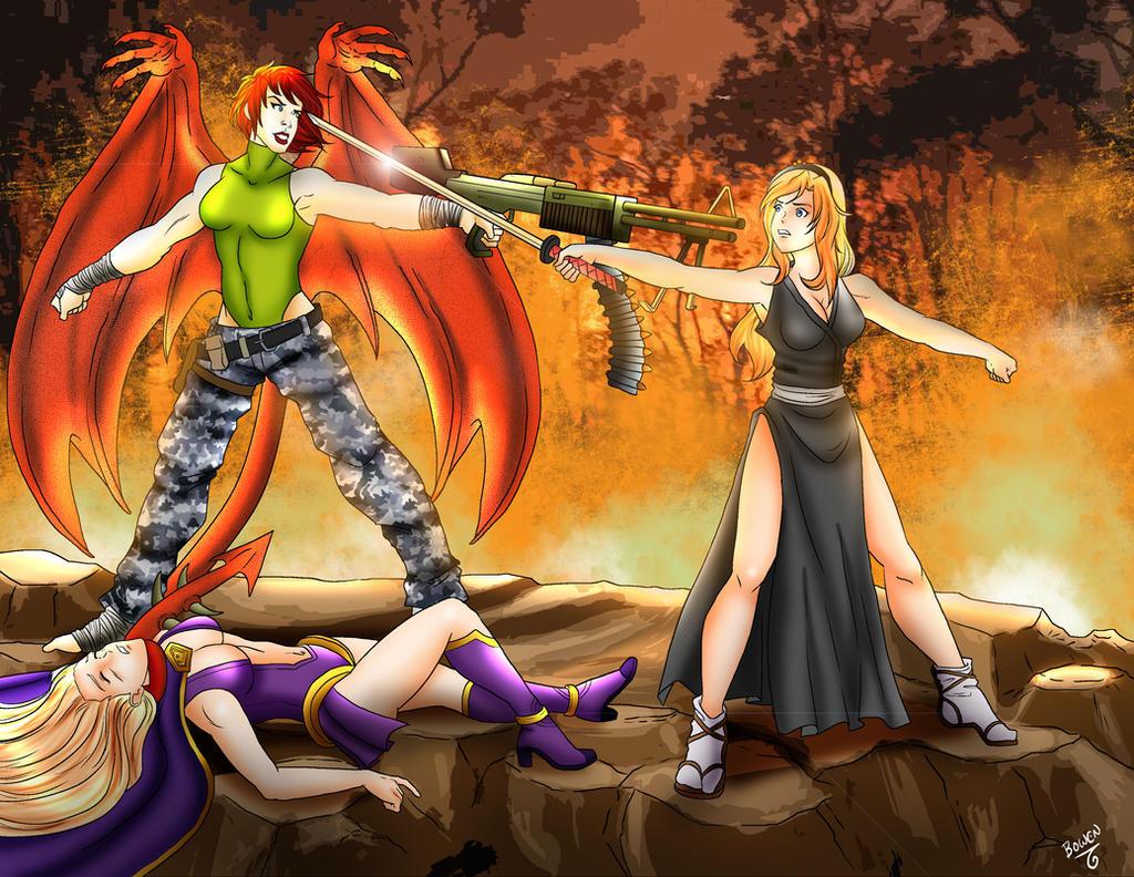 Fiery Fight by Bowen12a