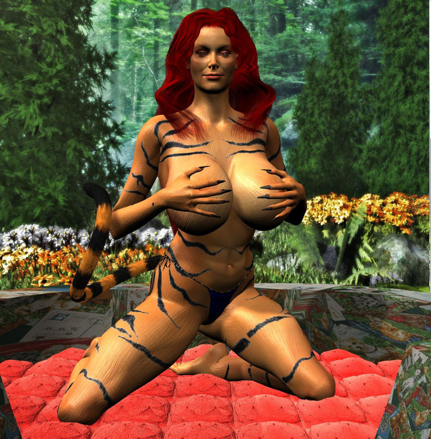 Tigra in Bed by Chup-at-Cabra