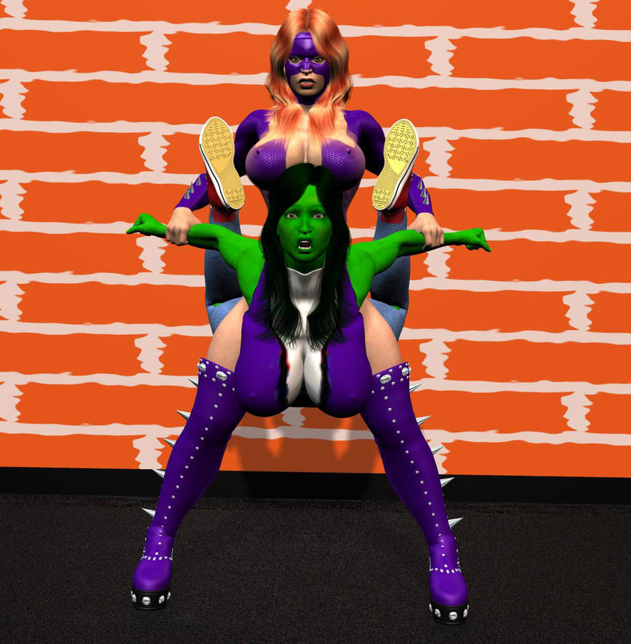 she hulk vs titania by chup at cabra on deviantart. Black Bedroom Furniture Sets. Home Design Ideas
