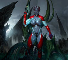 Mass Effect - Asari Spectre by Chup-at-Cabra