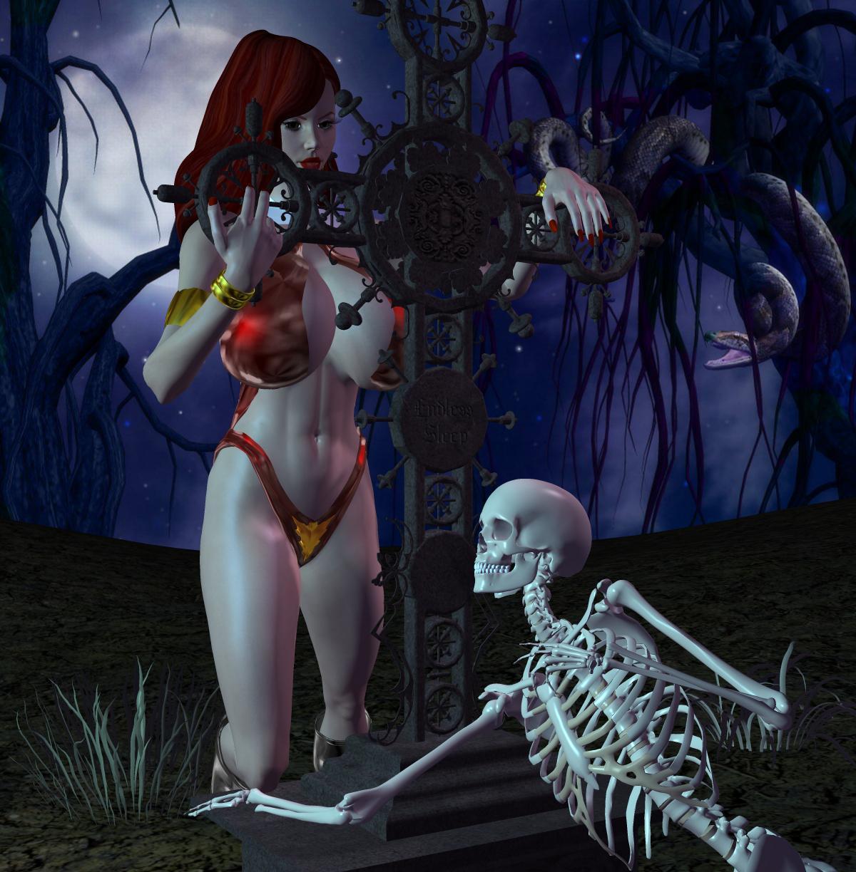 Jessica as Vampirella by Chup-at-Cabra