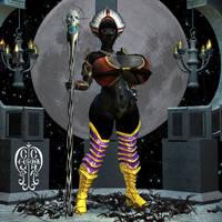 Curvy Drow Priestess by Chup-at-Cabra