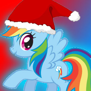Rainbow Dash Christmas Avatar by ScraftyCrafty on DeviantArt