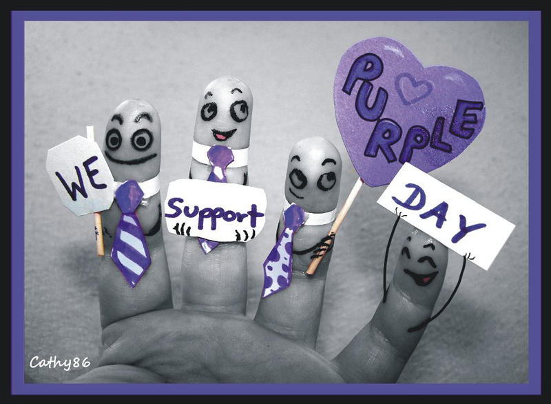 Finger Art: Purple Day by Cathy86