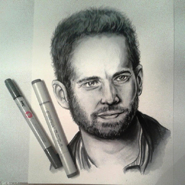 Paul Walker painting by Cathy86