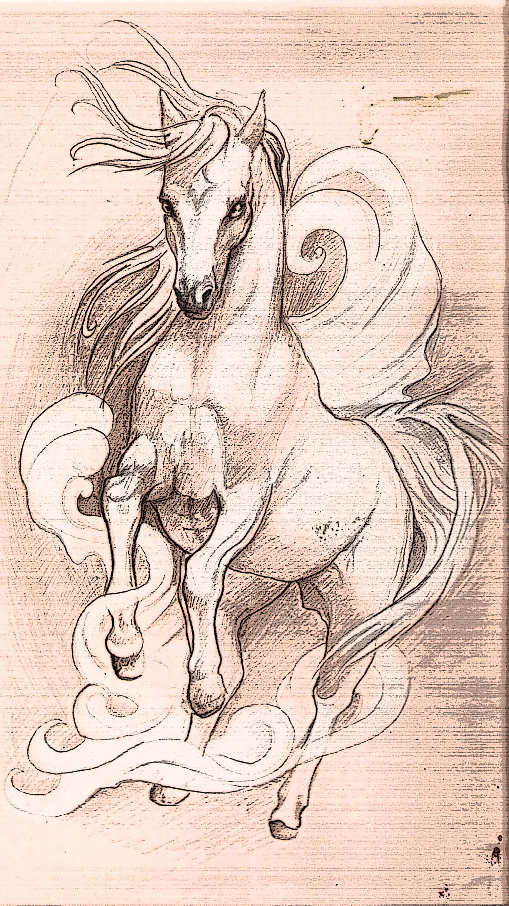 Tattoo design Horse by