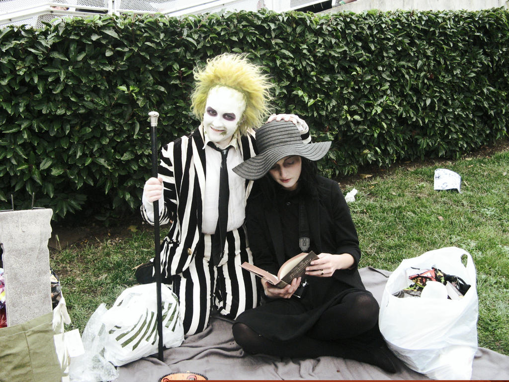Beetlejuice Cosplayers (London Expo) by kathXD123