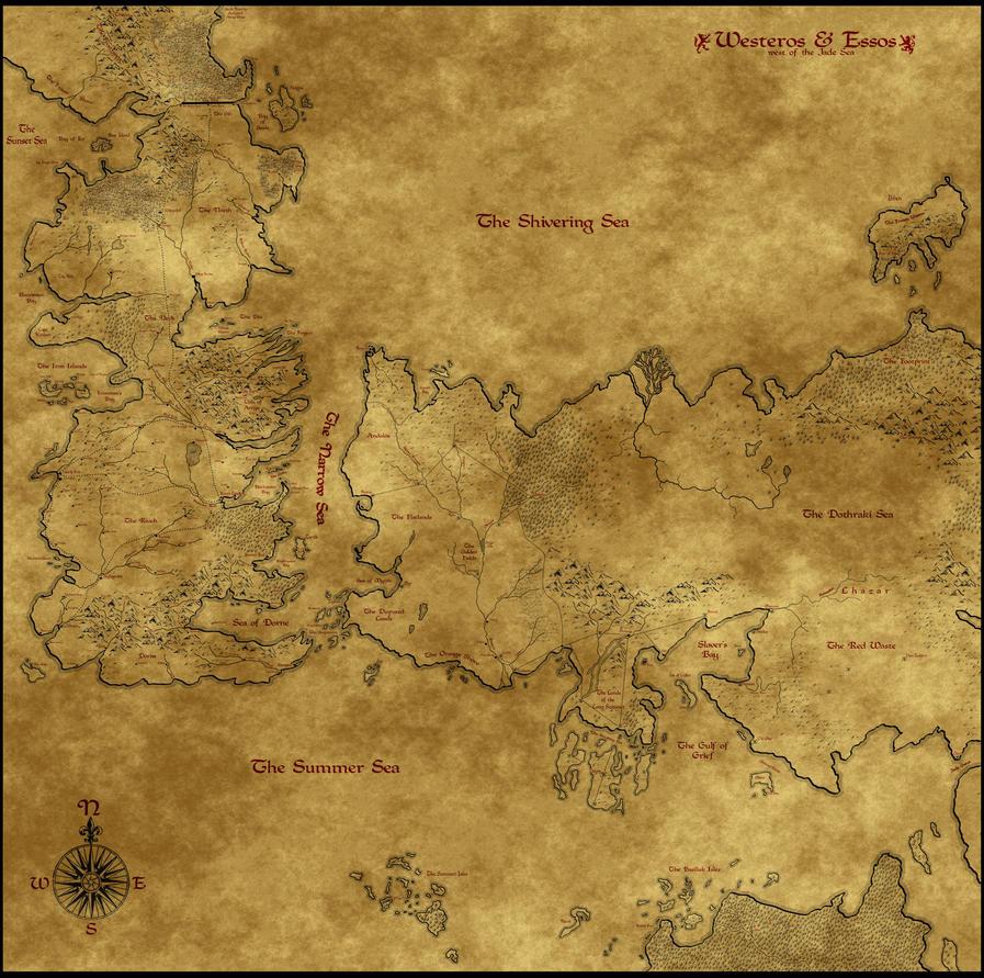 Map of Westeros, Essos, Sothoros v2.0 by Astrogator87