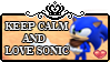Keep Calm And Love Sonic by BoludaChan