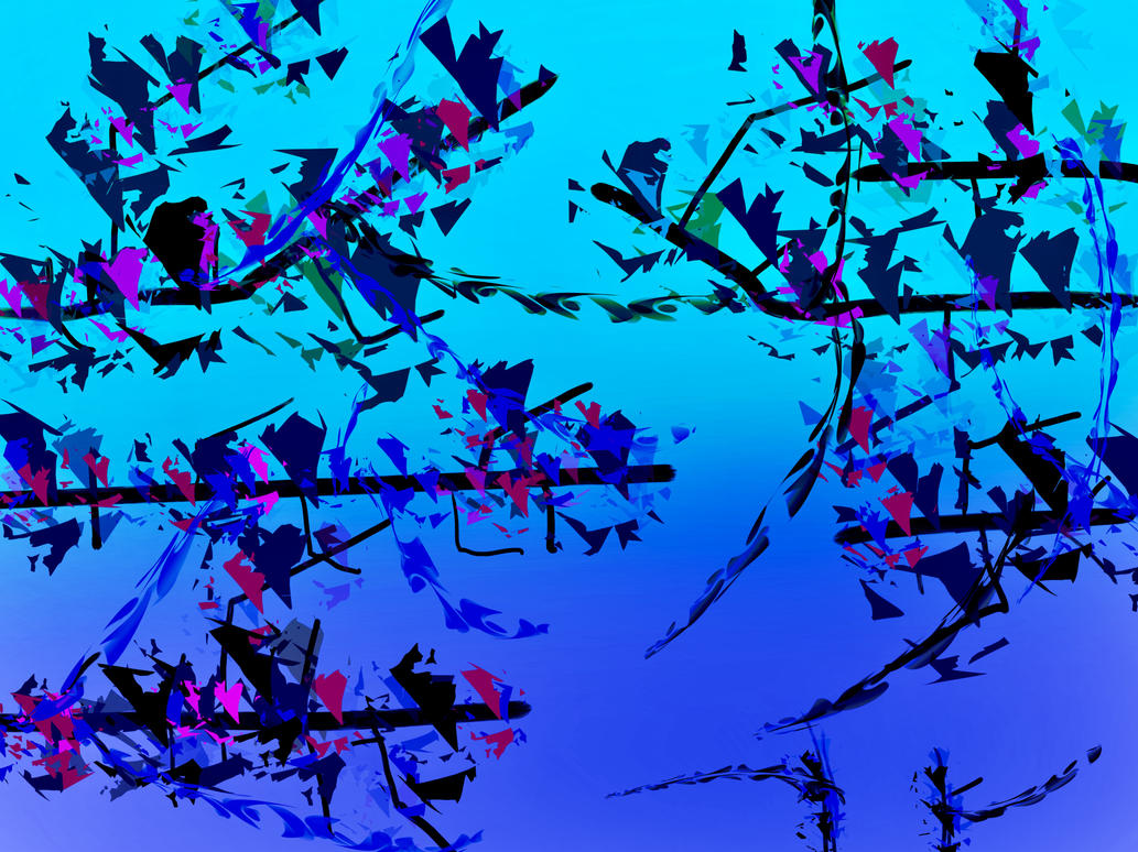 abstract composition 1 asian tree branches by 0soot on
