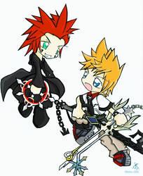 Axel VS Roxas by Mioku
