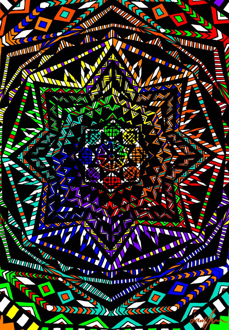 Psychedelic pattern by Jarryn