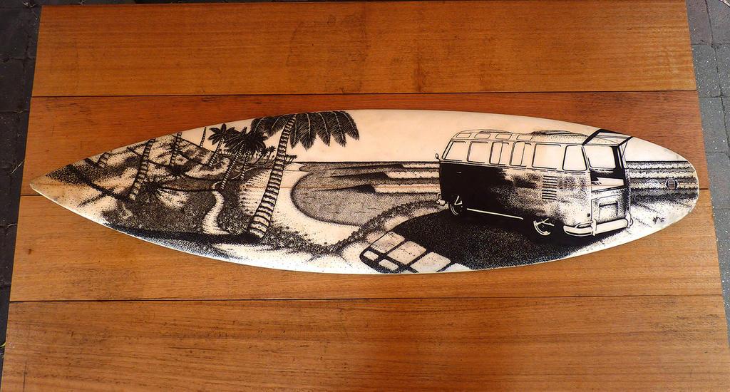 Surfboard art by Jarryn