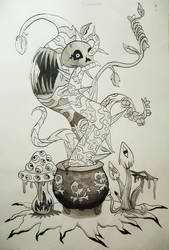 Inktober 2018 Day 1 by wildface1010