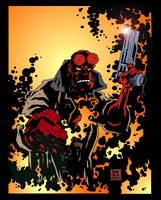 HELLBOY color print by POPSTATA
