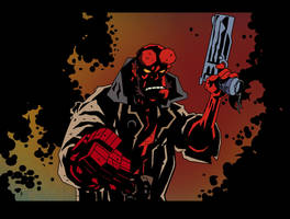 HELLBOY color print II by POPSTATA