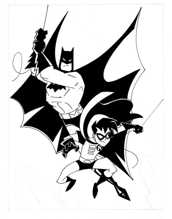 Cartoon Batman And Robin Drawing | www.imgkid.com - The ...