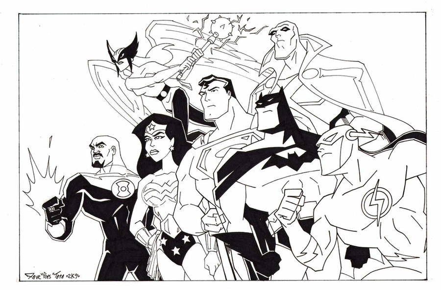 coloring pages and justice league - photo#36