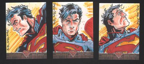SUPERMAN: THE LEGEND NEW 52 AP sketch cards