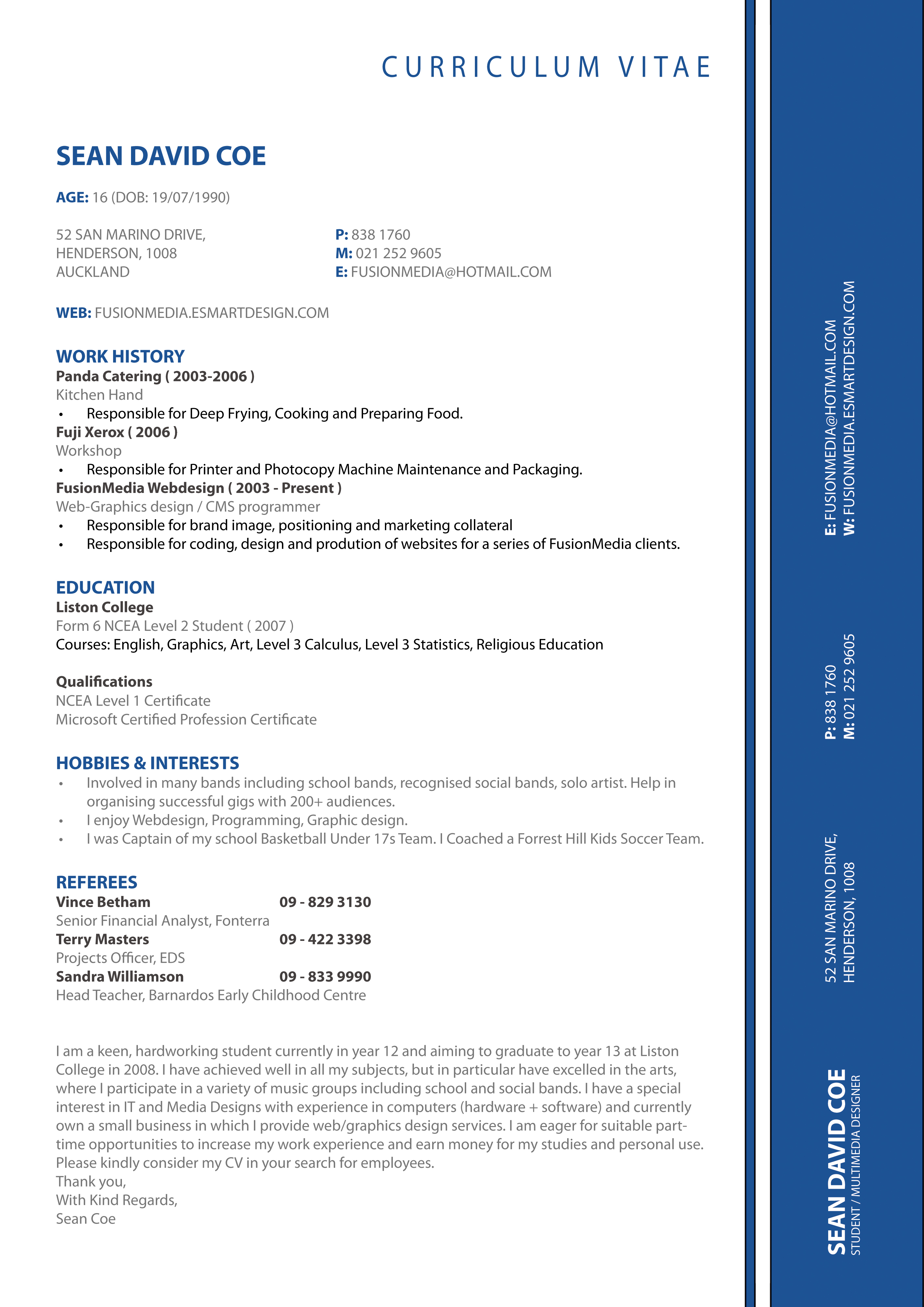 my cv resume