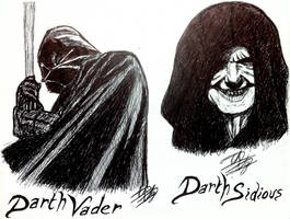 Darth Vader and Darth Sidious - Star Wars by Pink--Mist