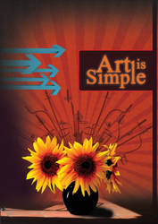 Art is simple Poster by zmtejani