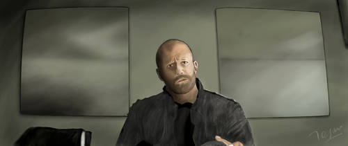Jason Statham Painting by zmtejani