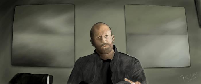 Jason Statham Painting
