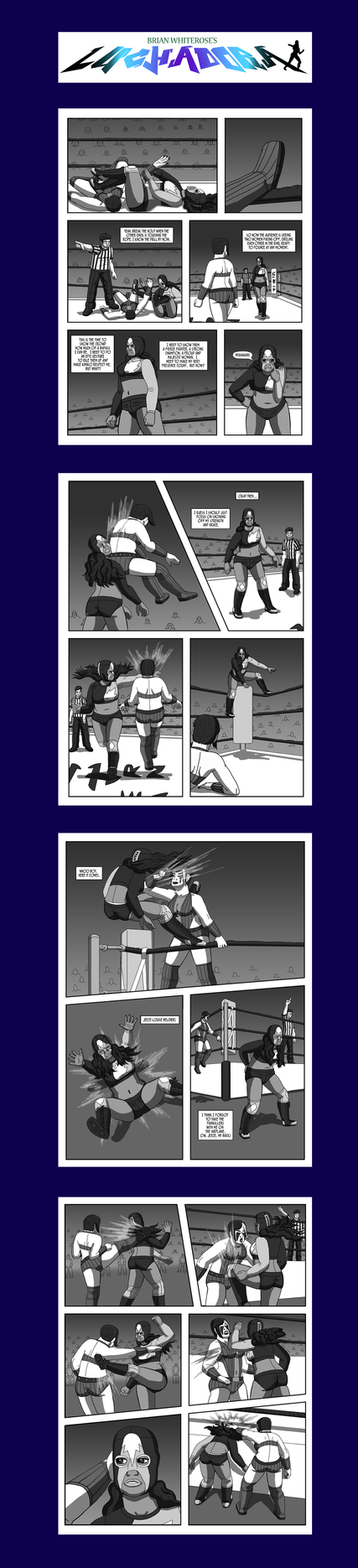 Luchadora, Fifth Scenario, Pages 5 to 8 by White-Rose-Brian