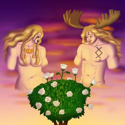 Freya, Freyr, and White Roses
