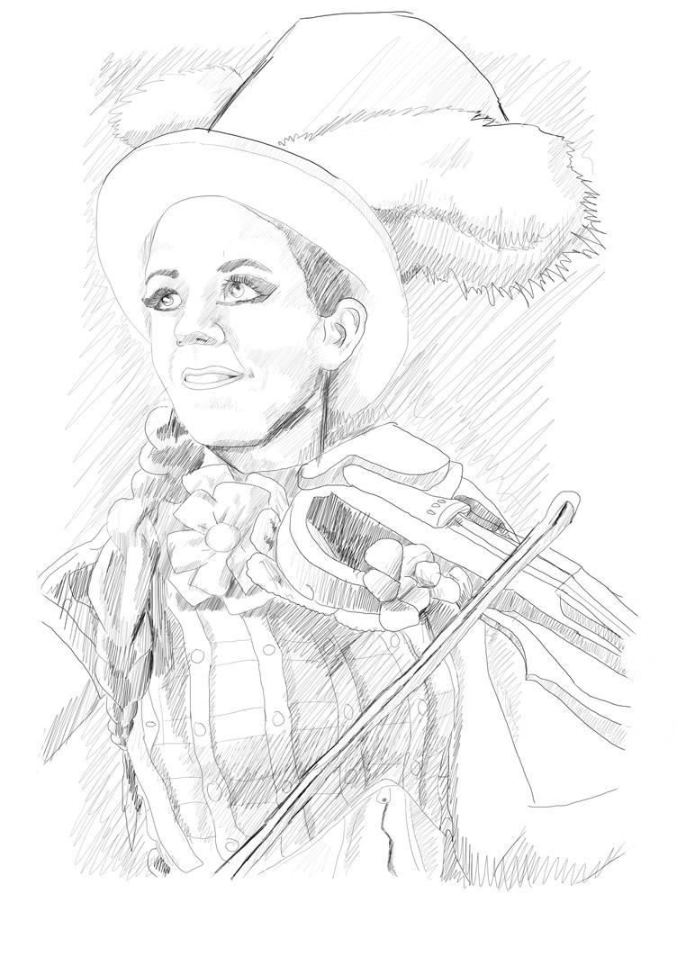 Lindsey Stirling - Portrait Sketch 2 by BenArtsStudio