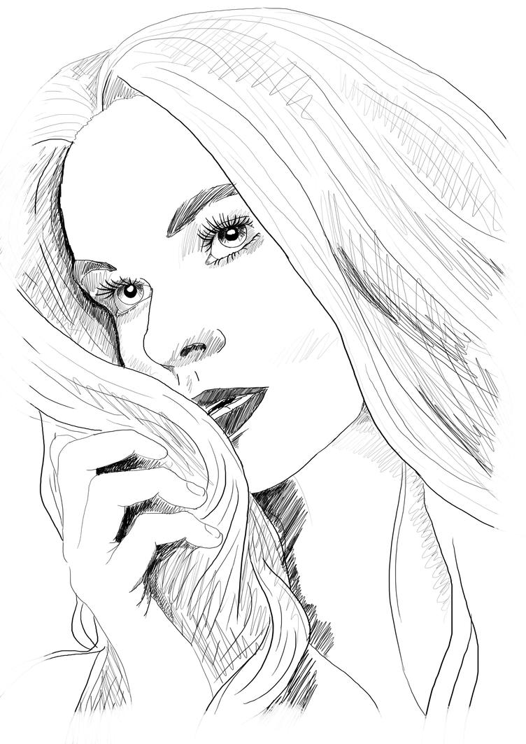 Portrait Sketch 3 by BenArtsStudio