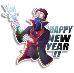 Happy New Year!! by BenArtsStudio