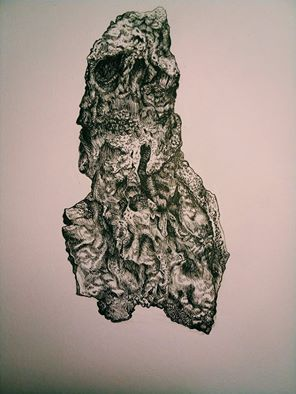 Drawing of a rock by Dagne0