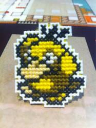 Psyduck cross stitch pin