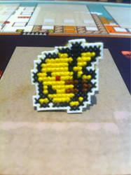 Pikachu cross stitch pin