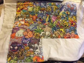 Pokemon cross stitch WIP