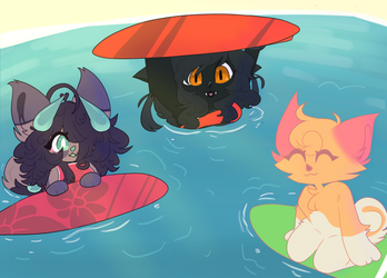 SSF Prompt : Surfing by Lovincats4ever