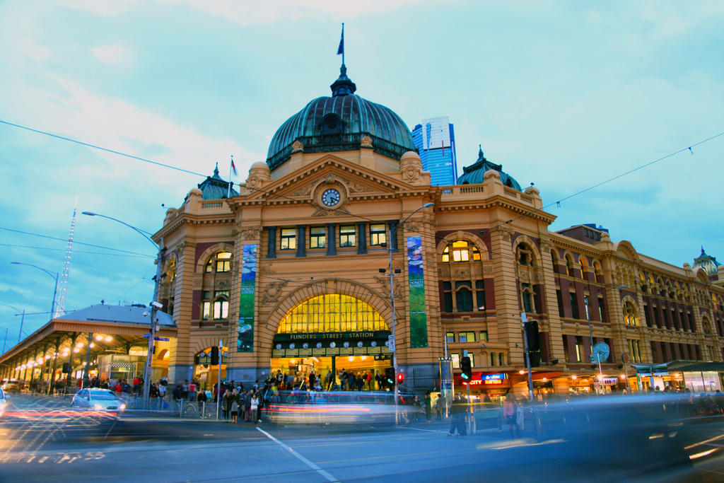 Melbourne in Motion by RainThatFallsSoftly