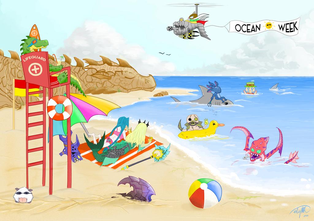 Beach Day by RainThatFallsSoftly