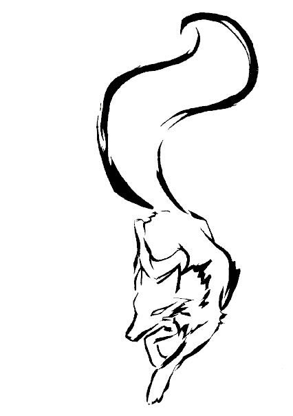 Fox Face Line Drawing : Tribal fox by elemental war on deviantart