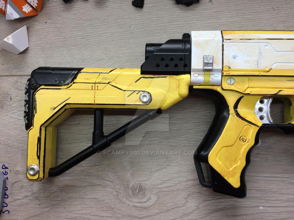 Nerf gun Retaliator Hyperion Borderlands paint job by scampy001