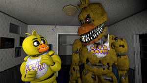 Chica meets Nightmare Chica