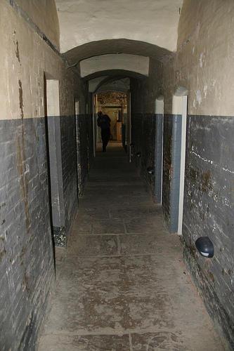 Prison corridor by puncturedbicycle