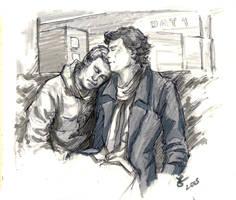 Airport John and Sherlock by Nim-lock