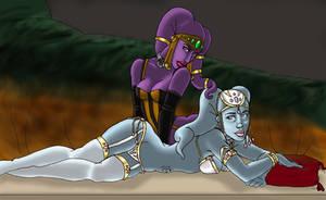 .: Jeweled Slaves :. by pyrokitty