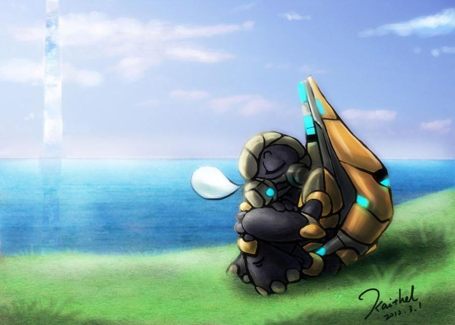 Halo Sleeping Grunt by kaithel