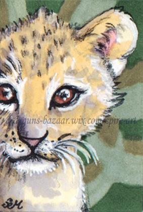 Lion Cub Postage Stamp
