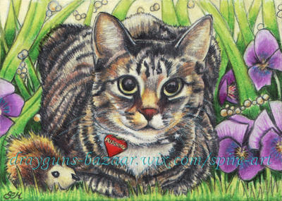 Love Pudding ACEO by De-Vagrant
