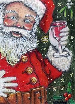 Christmas Cheers ACEO